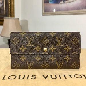 Louis Vuitton Monogram Sarah Long Wallet TH0060